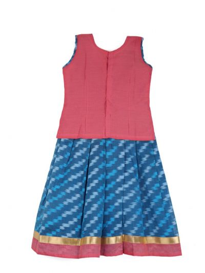 Girls Ready Made Art Silk Pavadai Set - TUPPP14