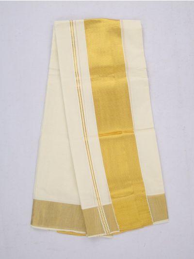 Kerala Set Mundu With Golden Border - MAC2585353