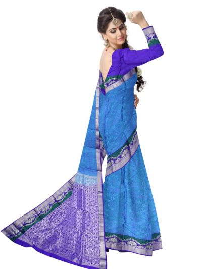 Bairavi Traditional Blue Silk Saree - MAD3555922