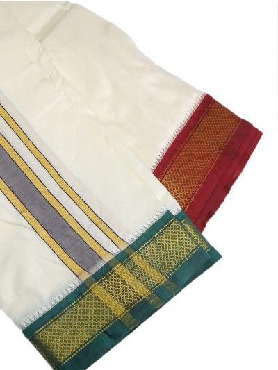 MBC6860871 - Vivaha Mayil Kan Handloom Silk Dhoty