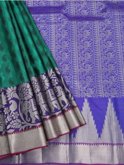 Uppada Traditional Green Silk Saree