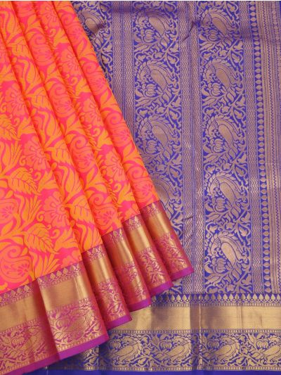 Bairavi Traditional Pink Silk Saree