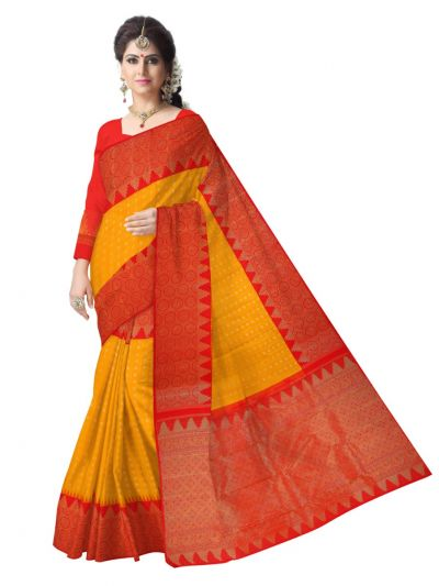 Vivaha Goddess Pure Kanchipuram Handloom Silk Saree - MCB8148319
