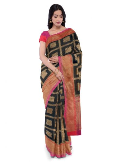 MDD2744688 - Kyathi Handloom Pure Banarasi Silk Saree
