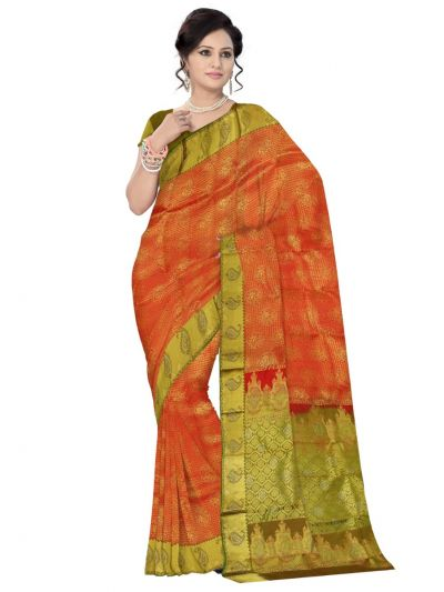 Vivaha Wedding Kanchipuram Silk Saree With Stone Work Design-MDD2932486