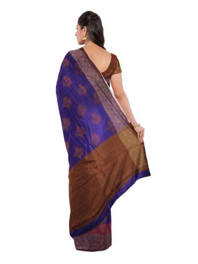 Sahithyam Dupion Tussar Silk Saree - MEA4597549