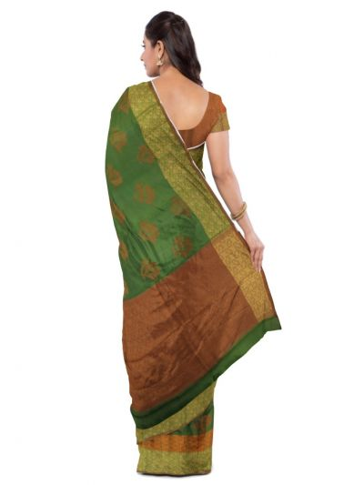 Sahithyam Dupion Tussar Silk Saree - MEA4597557