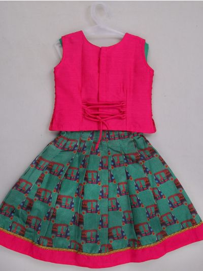 Girls Ready Made Art Silk Pavadai Set - MEA4679592