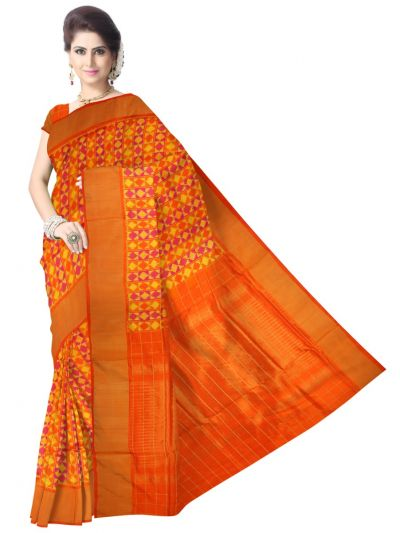 MEB6305415 - Pochampally Ikat Silk Saree