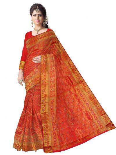 MEB6462502 - Vivaha Stonework wedding Silk Saree