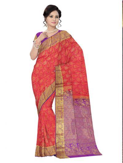 Vivaha Wedding Kanchipuram Silk Saree With Stone Work Design - MEB6462508