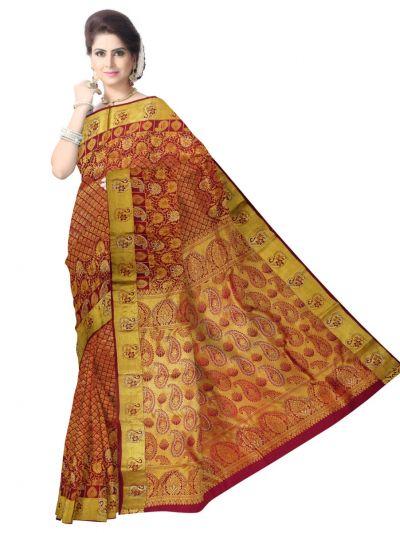 Vivaha Wedding Kanchipuram Silk Saree With Stone Work Design - MEB6650884