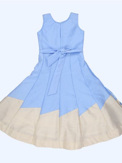 Imported Satin Girls Long Frock-MEB6651710