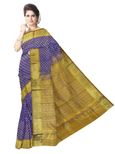 Vivaha Wedding Kanchipuram Silk Saree With Stone Work Design-MEB6707086