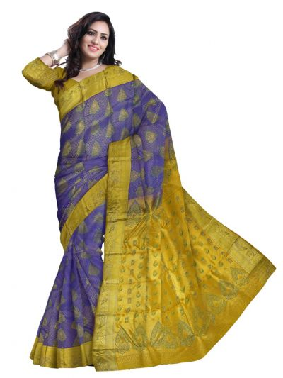 Vivaha Wedding Kanchipuram Silk Saree With Stone Work Design-MEB6707096