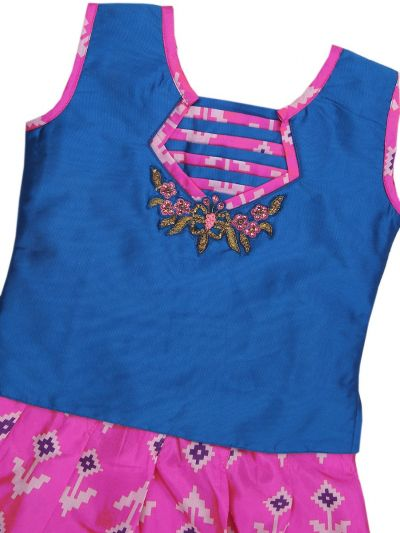 Girls Ready Made Art Silk Pavadai Set - GPP646