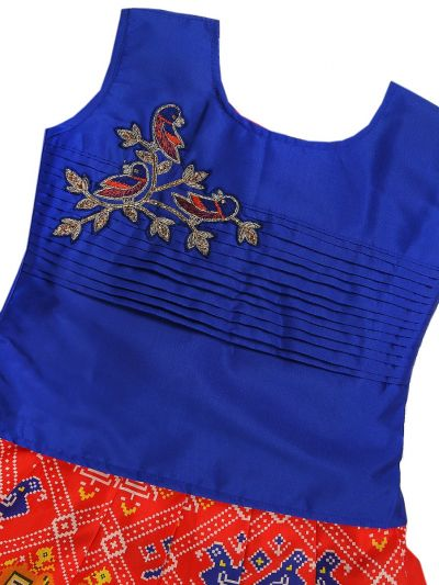 Girls Ready Made Art Silk Pavadai Set - GPP644