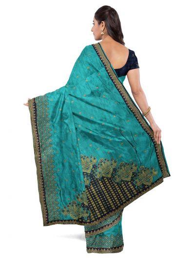Kathana Exclusive Designer Embroidery Raw Silk Saree - MFB0977251