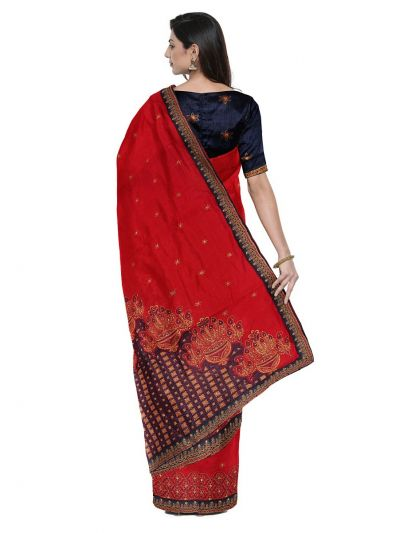 Kathana Exclusive Designer Embroidery Raw Silk Saree - MFB0977252