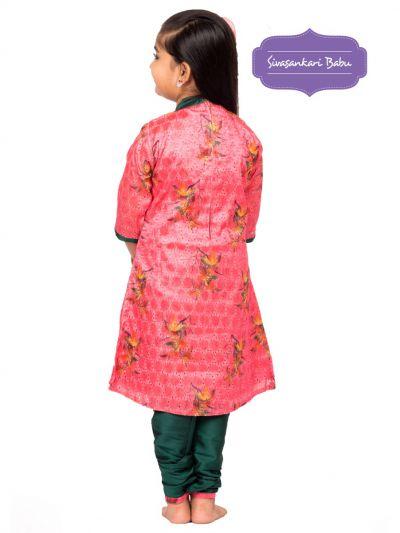 Sivasankari Babu Girls Hakoba Design Salwar Kameez - MGB9085887