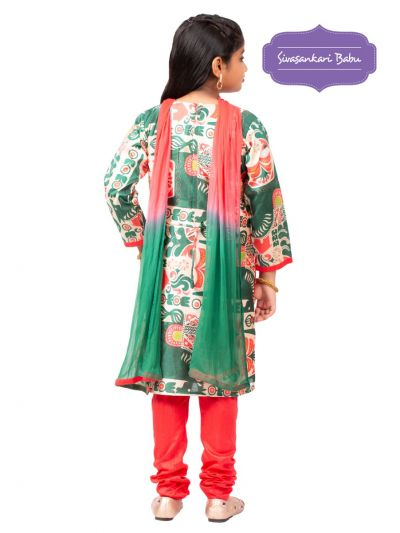 Sivasankari Babu Girls Assam Silk Salwar Kameez - MGB9596672