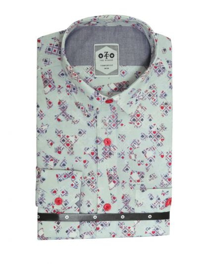 EKM - ZF Men's Readymade Casual Cotton Shirt