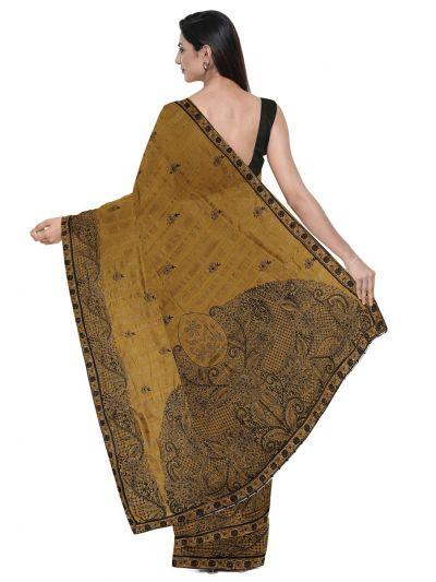 ONL-MCC9538320-Kathana Exclusive Designer Embroidery Raw Silk Saree