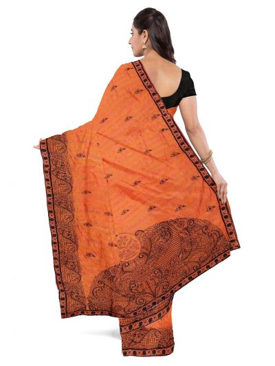 ONL-MCC9538322-Kathana Exclusive Designer Embroidery Raw Silk Saree