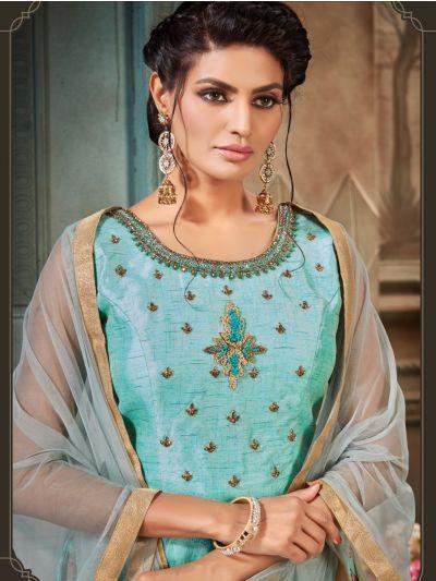 Khyathi Women's Exclusive Hand Work Readymade Salwar Kameez - Size 40