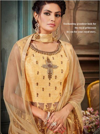 Khyathi Women's Exclusive Hand Work Readymade Salwar Kameez - Size 44