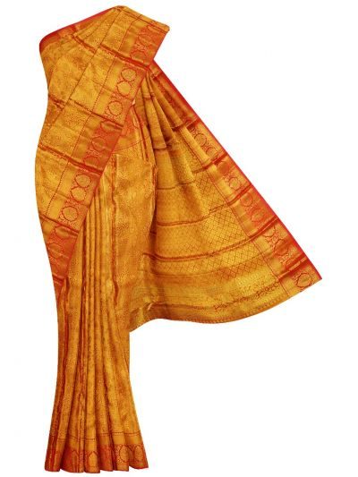 Vivaha Goddess Handloom Pure Kanchipuram Silk Saree - NEC2321480