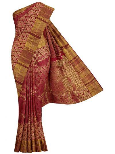 Vivaha Goddess Handloom Pure Kanchipuram Silk Saree - NEC2397143