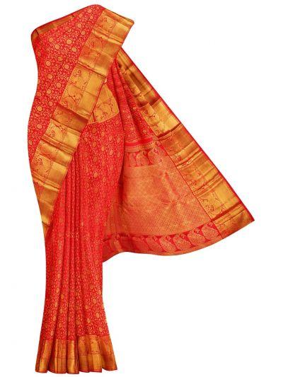 Vivaha Goddess Handloom Wedding Kanchipuram Silk Saree - NEC2497828
