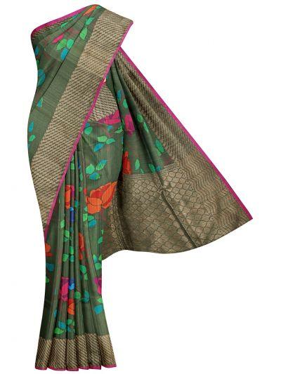 Banarasi Handloom Silk Saree - OAB1073149