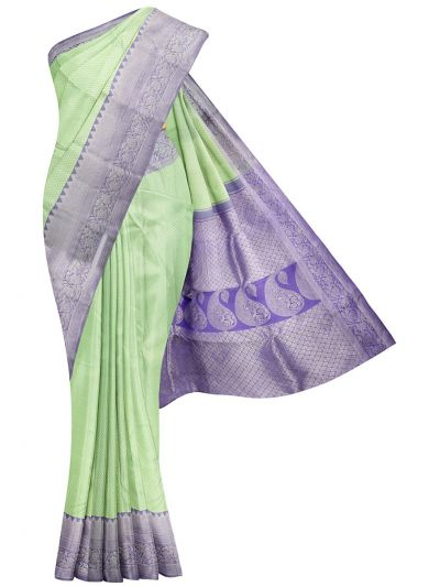 Vivaha Green Wedding Pure Kanchipuram Silk Saree - OEC6347793