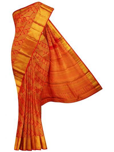 Vivaha Red Wedding Pure Kanchipuram Silk Saree - OEC6347805
