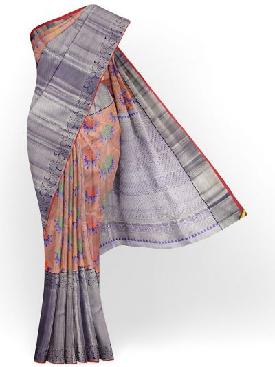 Vivaha Exclusive Bridal Zari Border and Pallu Handloom Kanchipuram Silk Saree - MID4733880