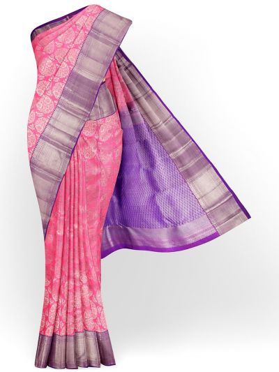 Vivaha Exclusive Bridal Zari Border and Pallu Handloom Kanchipuram Silk Saree - MID4733989
