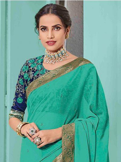 Kathana Fancy Sana Silk Saree With Embroidery Blouse - TI10524