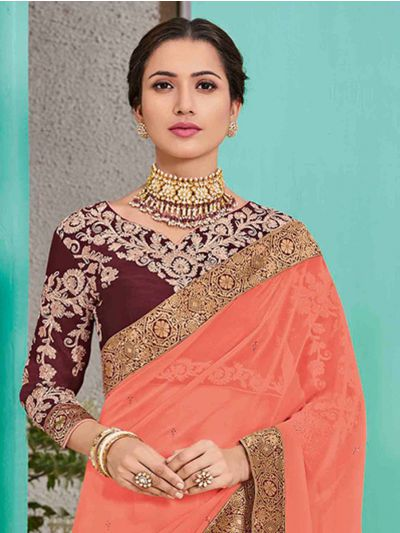 Kathana Fancy Sana Silk Saree With Embroidery Blouse - TI10525
