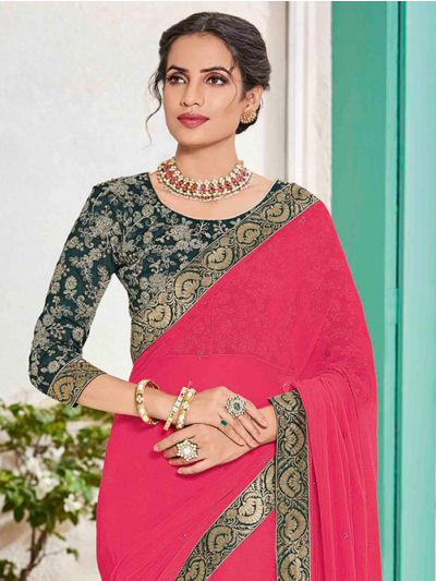 Kathana Fancy Sana Silk Saree With Embroidery Blouse - MFB2772183