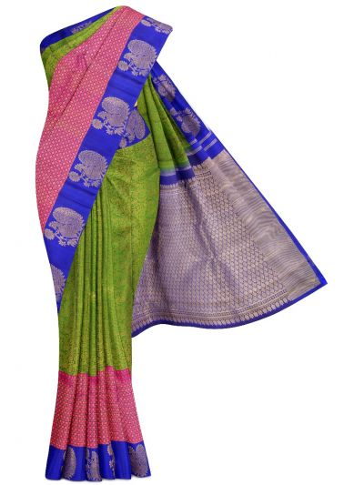 Vivaha Green Pure Kanchipuram Silk Saree - LKA2495456