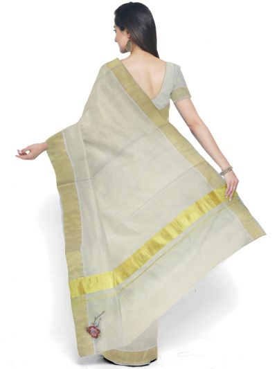 Fancy Kerala Cotton Saree - MBA4746471