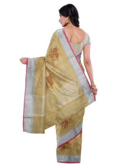 Fancy Printed Linen Cotton Saree - MCC9339405