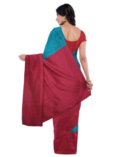 Chamelli Exclusive Cut Paste Design Chanderi Cotton Saree
