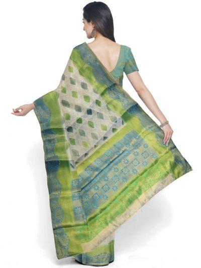 Kathana Fancy Raw Silk Zari Weaving Saree  - MFB2406990