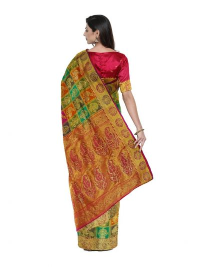 Vivaha Wedding Silk Saree With Stone Work Design - MFA9554270
