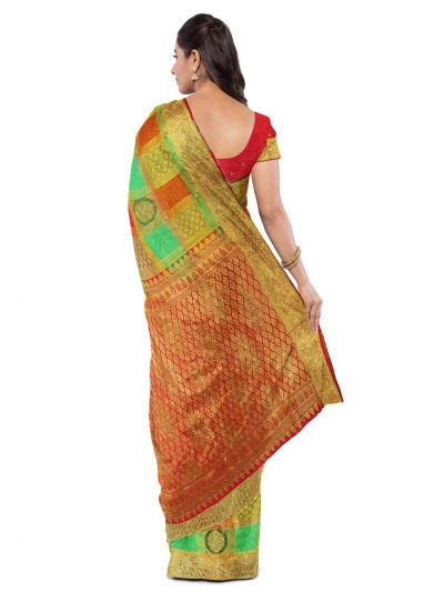 Vivaha Wedding Silk Saree With Stone Work Design - MFA9554274