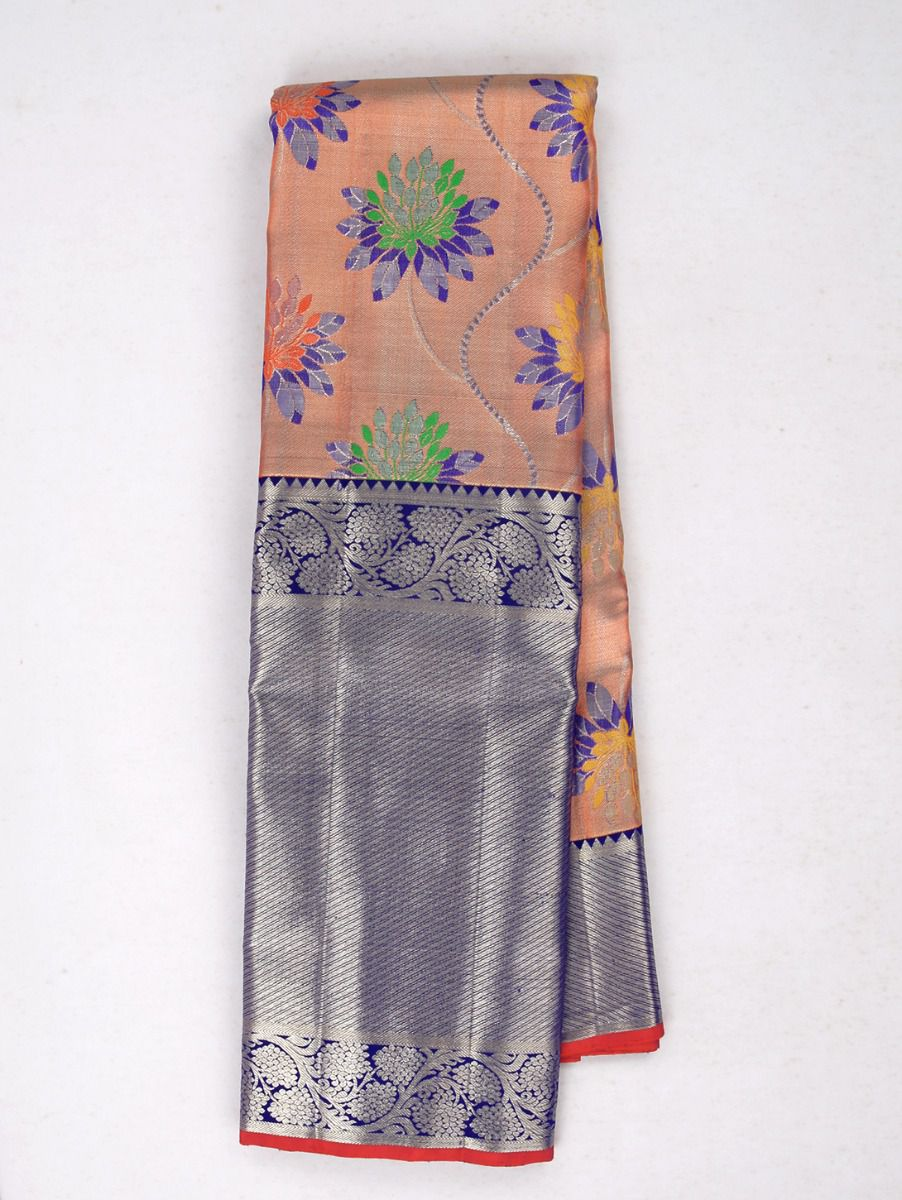 Vivaha Exclusive Bridal Zari Border and Pallu Handloom Kanchipuram Silk Saree