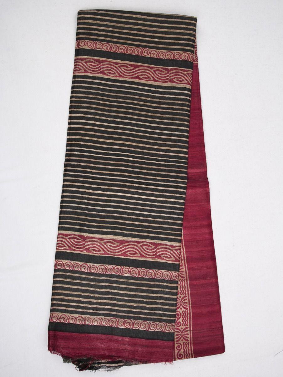 Kyathi Exclusive Pure Tussar Silk Saree